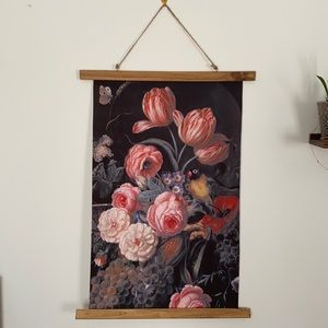 Flower and bird wall tapestry